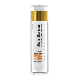 Lätt tonad vattenfast sammetslen solkräm med mycket högt solskydd SPF50+