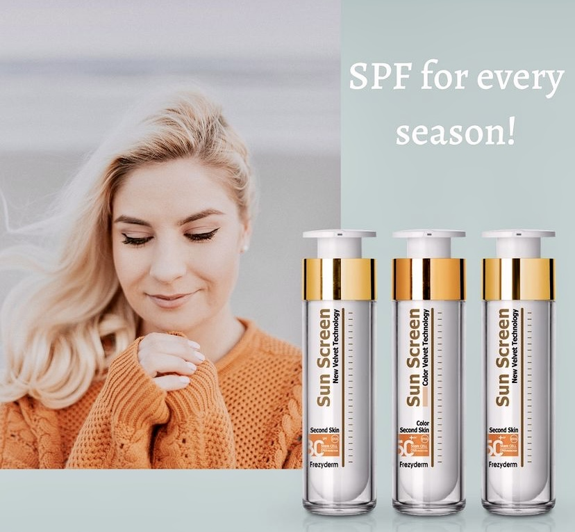 FREZYDERM sunscreens with spf 30 and spf 50